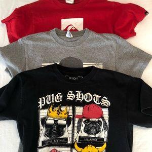Three boy tees